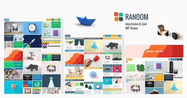 Random - Impressive & Cool WP Theme