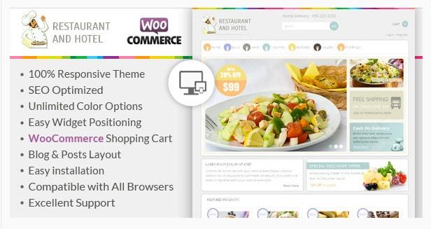 Restaurant - Responsive WooCommerce Theme