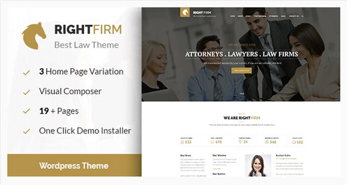 Right Firm - Law Firm WordPress Theme