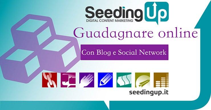 Guadagnare con Gli Articoli di un Blog: SeedingUp