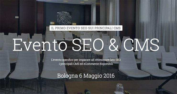 SEO e CMS: Corso SEO Per CMS - Bologna 2016