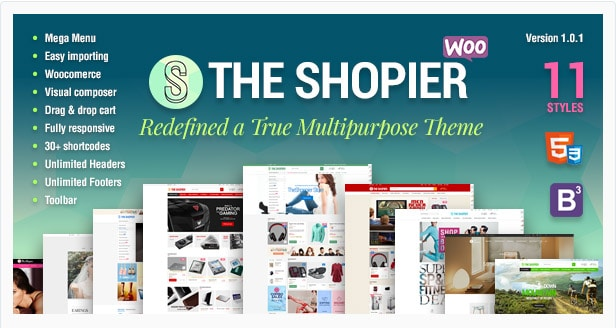Shopier - Responsive Multipurpose WordPress WooCommerce