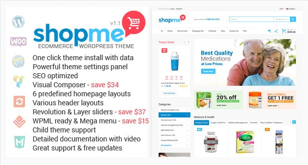 ShopMe - WooCommerce WordPress Theme
