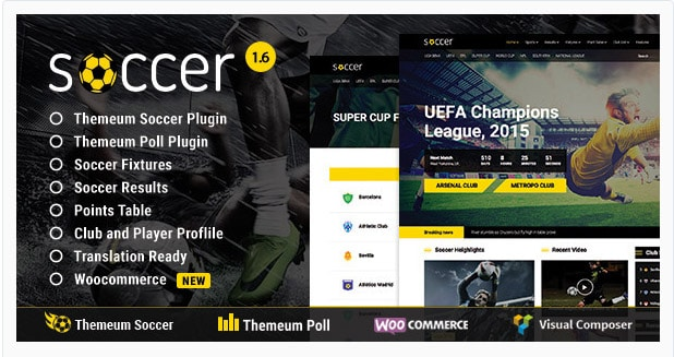 WP Soccer - Sport Team Clubs WordPress Theme