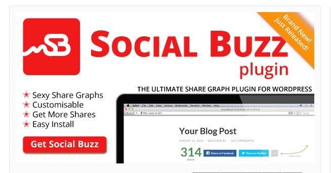 Social Buzz WordPress - Social Share Graphs