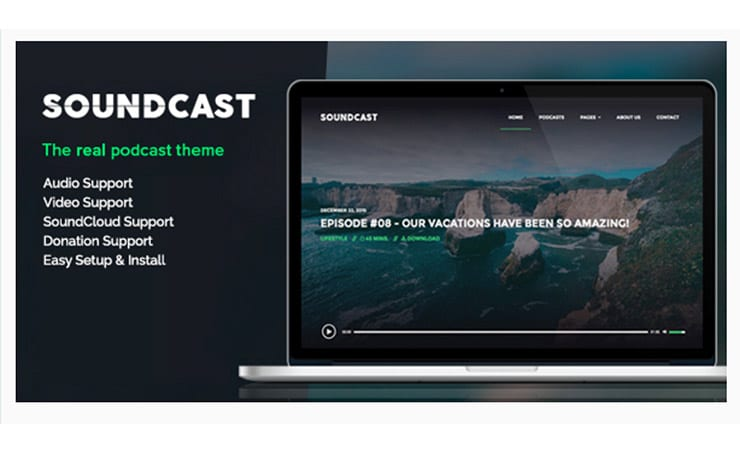 Soundcast: Tema WordPress Per Sito di Podcast