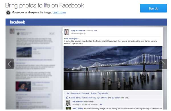 Stipple: Rendere Foto Interattive su Facebook Mouseover?