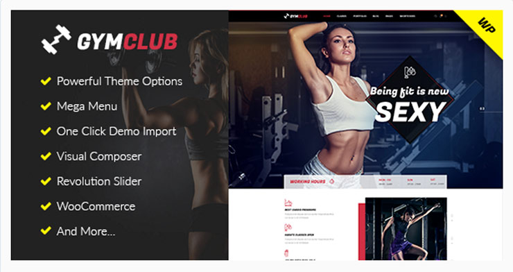 Template WordPress Per Palestre, Gym e Body Studio: GymClub!