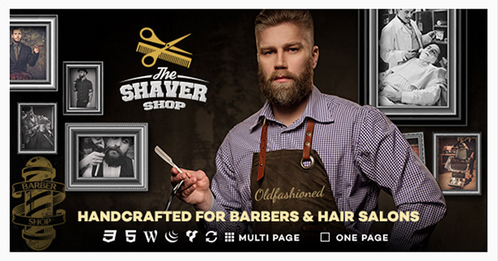 Template WordPress Per Barbieri, Barber Shop e Saloni di Bellezza: Shaver Shop
