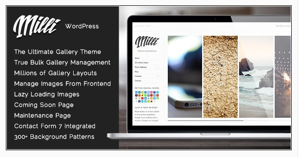 Milli - Ultimate Photo Gallery Template WordPress