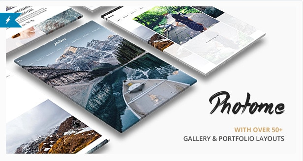 Photo Me - Gallery Photo Template WordPress