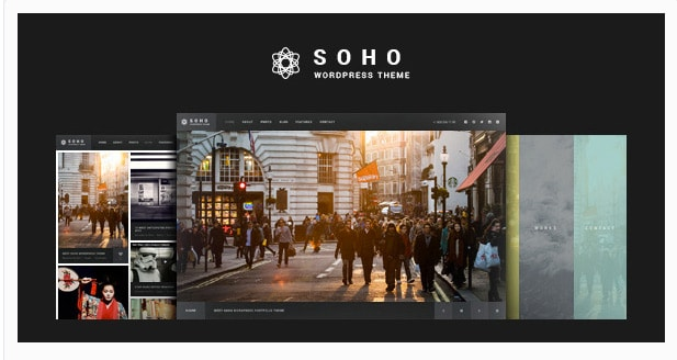 Soho - Fullscreen Photo e Video Gallery Template WordPress