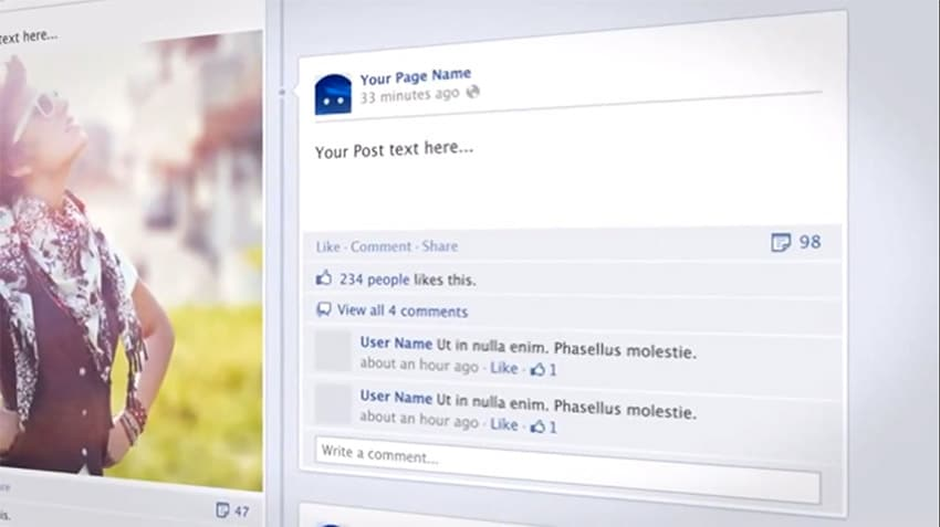 Template Video Facebook After Effects: Your Facebook