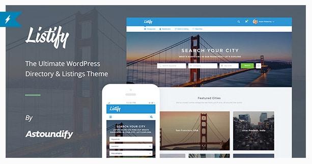 Wordpress Directory Theme Listify