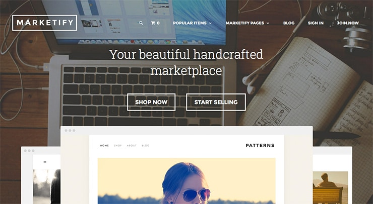 Template Wordpress Realizzare Marketplace: Marketify