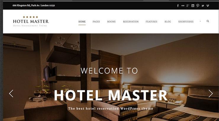 Template Wordpress Premium per Hotel 2015: Hotel Master