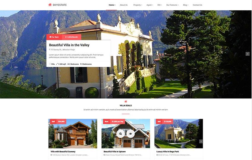 Template Wordpress Per Agenzia Immobiliare: Skyestate 2015