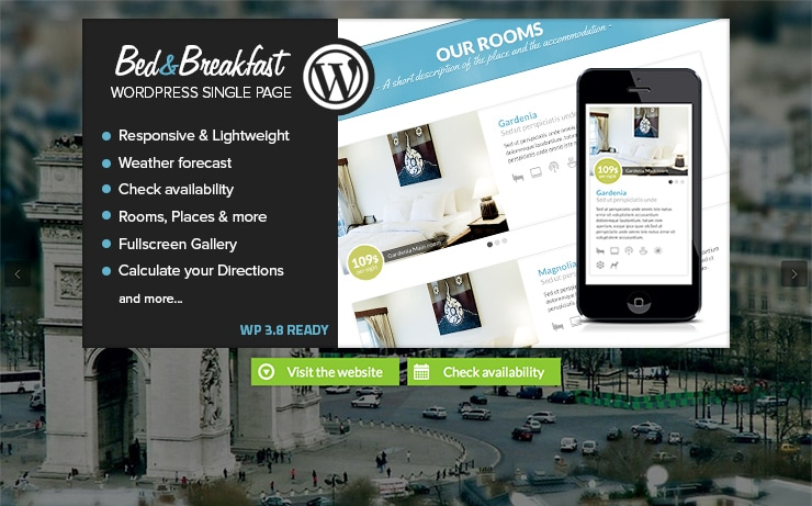 Tema Wordpress One Page: Bed&Breakfast