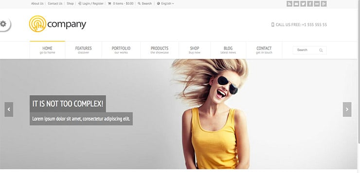 Template Wordpress Multiuso (Corporate, Portfolio, Business): RT-Theme 18