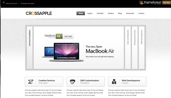 I Migliori Template Per Wordpress Responsive: Cross Apple