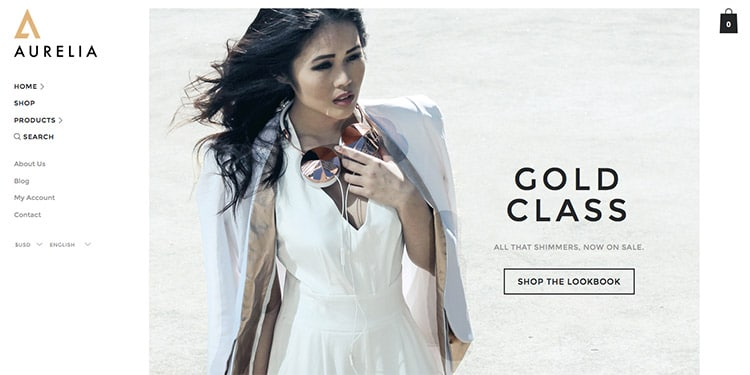 Template Wordpress Fashion Blog eCommerce 2015: Aurelia