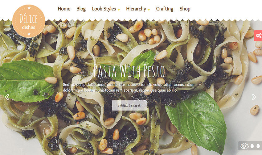 Template Wordpress per Food Blog 2015: Delice Plus