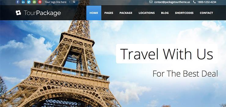 Template Wordpress Sito Viaggi e Vacanze: GoExplore 2015