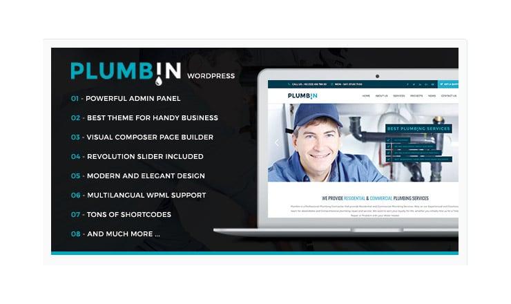 Template WordPress Idraulico - Elettricista: Plumbin