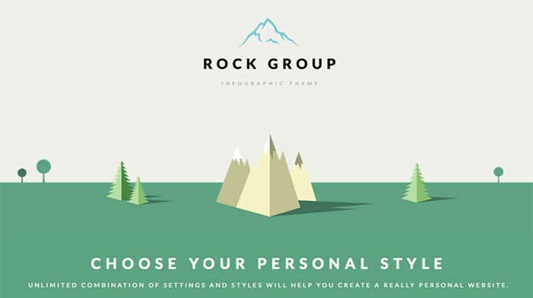 Template Wordpress Infografica Multiuso: Rock Group