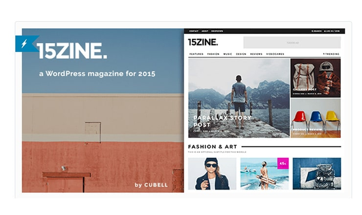 Tema Wordpress Magazine 2015: 15Zine