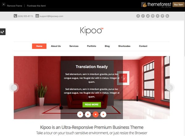 I Migliori Template Per Wordpress: Kipoo Responsive Business