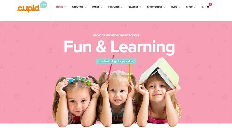 Template Wordpress Per Bambini e Scuola: Cupid 2015