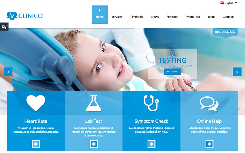 Template Wordpress Per Studio Medico: Clinico