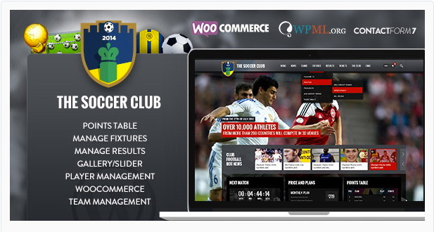 Soccer Club - Sports and Events News Theme