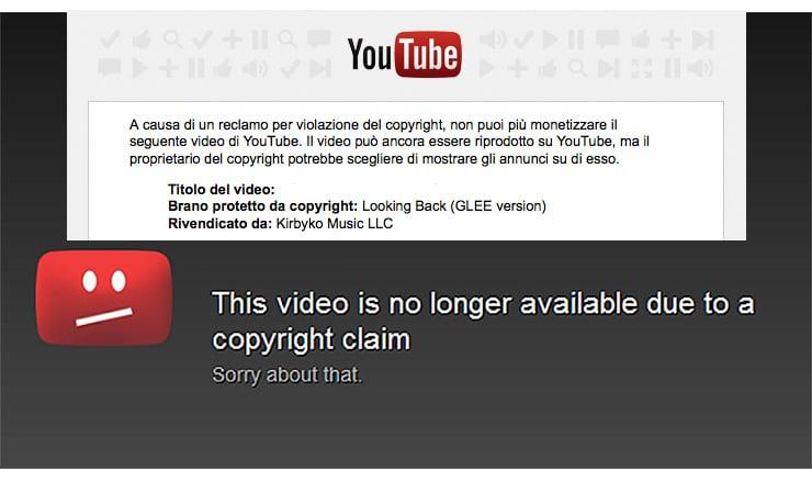 Violazione Copyright su YouTube: Perchè ho pagato 200$?