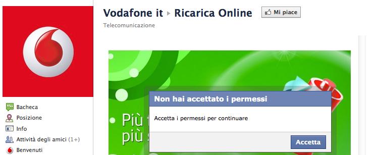 Vodafone Ricarica Online Dicembre 2011 Facebook