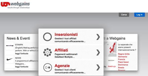 Network di Affiliazione Online: WebGains