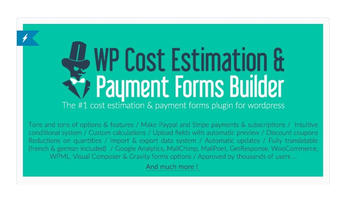 WP Cost Estimation: Plugin Calcolatore Prezzi - Preventivi