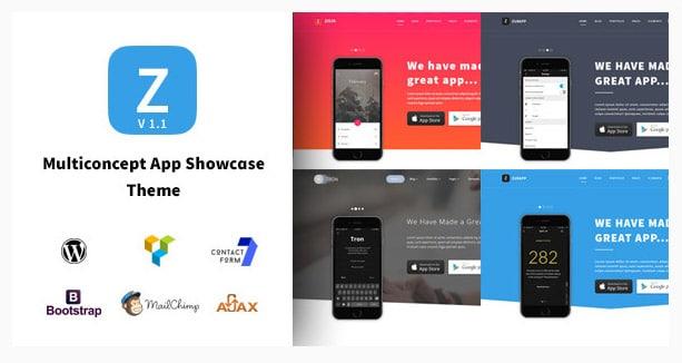ZurApp - Multiconcept App Showcase Theme